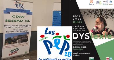 Les PEP 2B au séminaire sur la dyslexie le 3 octobre 2018 au théâtre de Bastia