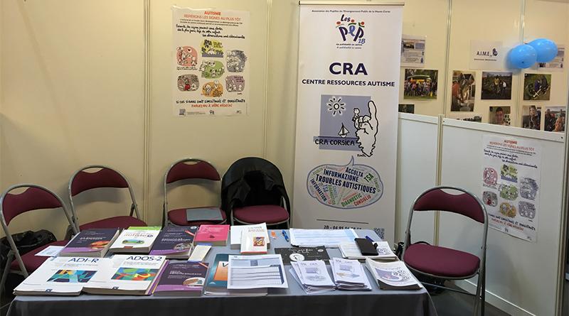 stand CRA au Salon International de l'Autisme les 5 et 6 avril 2019 au Palais des Congrès d'Ajaccio