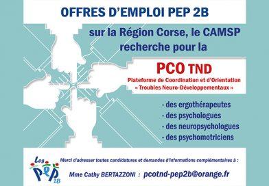 La PCO TND de l'AD PEP 2B recrute