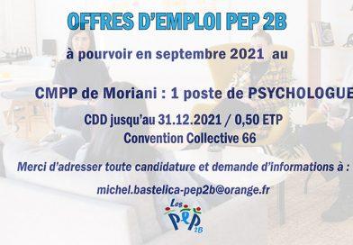 Offre d'emploi PEP 2B : psychologue